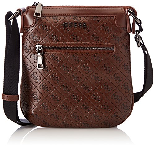 Guess - Bags Crossbody, Shoppers y bolsos de hombro Hombre, Marrón (Tobacco),...