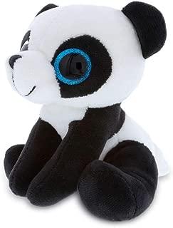 Dollibu Sparkling Big Eye Plush Stuffed Animal Teddy Bear - Cute Soft Woodland Security Toy Pal - Furry Plushie Cuddle Buddy Bedtime Friend - Birthday Gift for Newborns Baby Girls Boys - Large Panda