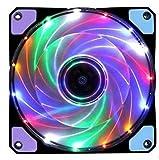 120mm LED Ultra Silent Computer PC Case Fan 15 LEDs 12V CPU Heatsink Cooler Master Cooling Fan DC 12V 4P 3P Connector|Fans & Cooling|