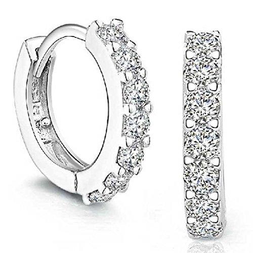 RUHUATUO Forme a Damas Exquisitas Pendientes de Diamantes de Una Sola Hilera Joyería Perfecta