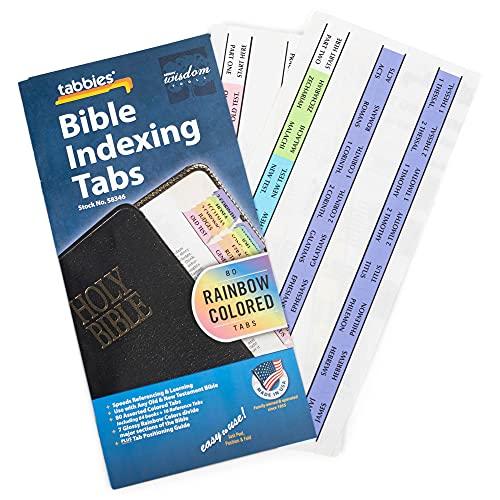 Guias de Índice da Bíblia Arco-íris Livro de Antigo e Novo Testamento da Bíblia – 80 Tabs