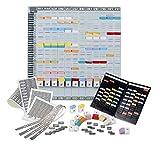 ACCO NOBO T-Karten Jahresplaner, Plantafel mit 12 Metallschienen, Monatsplaner + Zubehör +...