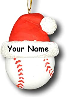 Hat 4.5x2.75 Personalized Baseball Ornament Baseball Christmas Ornament Custom Baseball Ornament,Sports Ornament,Gift for Baseball Boy