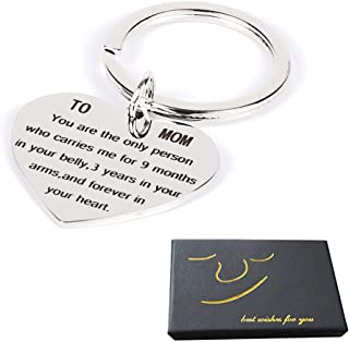 Mother's Day Birthday Christmas Gifts Mom Mother Gifts Keychain Necklace Mom Keychain Mother Gifts from Daughter Son Mother's Day Gifts