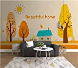 Papel Pintado Pared Paneles Tapiz Pared 3D Habitación Infantil Pintada A Mano Cielo Bosque Creativo. Fotomurales Decorativos Pared Cuadros Para Dormitorios Modernos