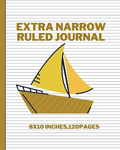 Extra Narrow Ruled JOURNAL: Large ultra-thin lining Paper: Notebooks & Journals is perfect for writings, drawings, notes, musical compositions, or anything else you choose.