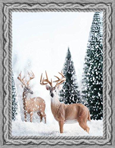 Confezioni Giuliana Plaid Stampa Digitale Cervo Bosco di Natale 140x180 Regalo di Natale