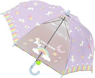 女の子 子供傘 キッズ傘 45cm 手開き 長傘 リフレクター付き ユニコーン