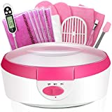 Paraffin Wax Machine for Hand and Feet - Paraffin Bath Ejiubas Quick Heating Paraffin Wax Warmer Paraffin Wax Bath Parafin Hand Wax Machine Moisturizing Kit with Wax Refill Thermal Mitts Gloves Pink