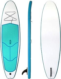 Fklee Stand Up Inflable Paddle Board de 4 Pulgadas de Grosor Universal Sup Postura Ancha con Aleta Inferior for Control de Remo y Surf Tabla de Surf (Color : Verde, tamaño : 290x76x10cm)