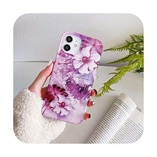 Ti'an - Funda para iPhone 12 Pro Max 11 Pro Max X XR XS Max 7 8 Plus SE 2020 Soft IMD Silicon Back Cover-IU2842-para iPhone 11