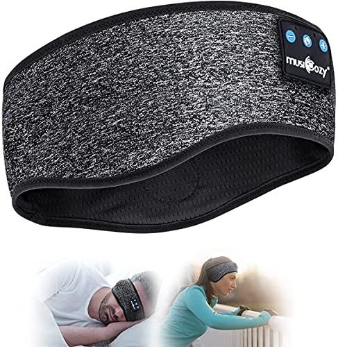 Schlafkopfhörer Bluetooth- V5.0 Sportskopfhörer Musik schlafen Stirnband Kopfhörer mit Ultradünnen HD Stereo Lautsprecher,Perfekt für Sport, Seitenschläfer, Flugreisen, Meditation und Entspannung