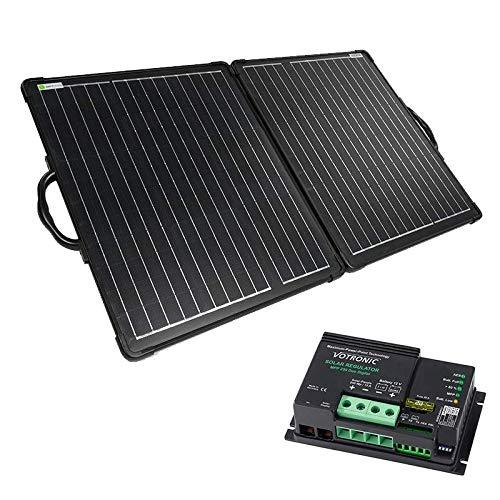 WATTSTUNDE 200W Solarkoffer ULTRA LIGHT WS200SUL - stabiles, faltbares Solarmodul in leichtbauweise (200W mit Votronic MPP250)