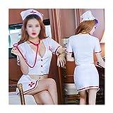 Ropa Interior Sexy Mujer Lencería erótica Sexy Lady Split Nurse Uniform Temptation Juego de rol Disfraces de sensualidad