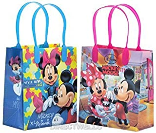 Disney Mickey and Minnie Mouse Reusable Premium Party Favor Goodie Small Gift Bags 12 (12