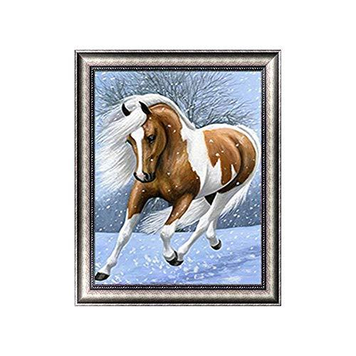 Sunnay Diamond Painting set, 30 x 40 cm, 5D Diamant Painting Set Full borduurwerk grote afbeeldingen DIY Diamonds schilderkunst, paard NIEUW