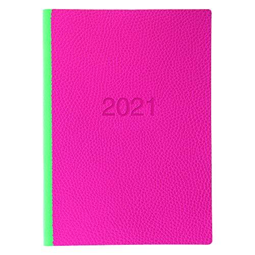 Letts 2021 Terminplaner, A5, Wochenansicht, Pink