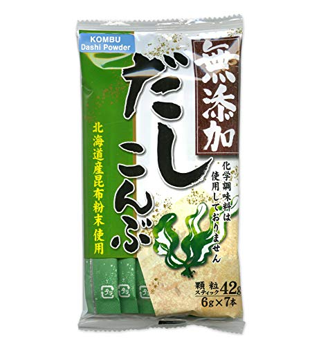 Kombu Dashi Powder with No MSG (Vegetarian Soup Stock) [English instructions on the back] 1.48 oz (6 gram x 7 packets)