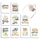 COVER TEXT: [Featuring Artfully Rendered Words Of Appreciation And Thanks] INSIDE GREETING: Card is blank inside. SIZE: Bulk gift box of 20 beautiful assorted blank Thank You note cards & envelopes and measure (4 x 5.12 Inch), which is smaller than y...