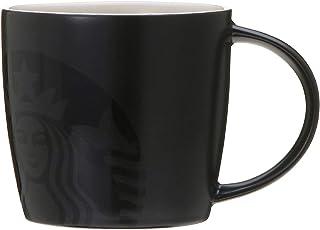 STARBUCKS スターバックス スタバ マグブラック 355ml 食器 陶器 黒 ブラック マット 艶消し 光沢感 コーヒー ロゴ 女神 人魚 セイレーン セイレン シンプル 大人っぽい
