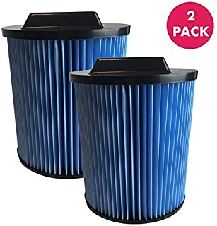 Think Crucial Replacement Vacuum Filters Compatible With Rigid Vacuum Cartridge Filter Part VF5000-19.7 x 16.7 x 2.4 - Perfect For 6 to 20 Gallon Wet, Dry Vacuums - Models WD0671, WD0970 - (2 Pack)