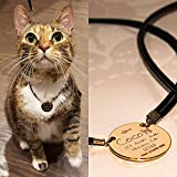 Cat Personalized Pet ID Tag for Cat Collars - Engraved Custom Identification Tag/Pet Cat Kitty Name ID Tag/Symbol Name Address Phone number or more/Front + Back option