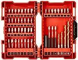 Milwaukee MW4932430906 Estuche De 48 Puntas Shockwave G2 / 4932430906, 0 V, Rosso