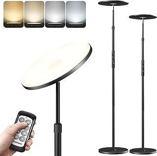Lampadaire sur Pied Salon 30W, aneeway Lampe Salon Dimmable 3000-6000K, Lampadaire Droit 154 LEDs, Télécommande&Commutateu...