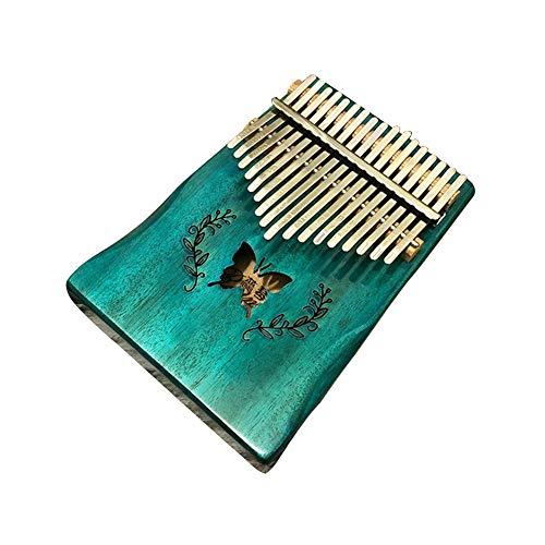 HshDUti Tragbarer Schmetterling 17-Key Finger Kalimba Mbira Holz Daumen Klavier Musikalisches Geschenk Blue