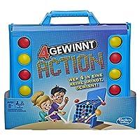 Hasbro Spiele E3578100 4 gewinnt Action, temporeiches Kinderspiel, blau