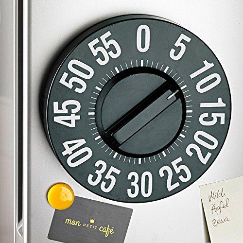 TRI Jumbo-Timer, Eieruhr, Küchentimer, magnetisch, Küchenuhr, Kühlschrankuhr, Küchenwecker, lautes Klingeln, Alltagshelfer, Kunststoff, Ø 20 cm