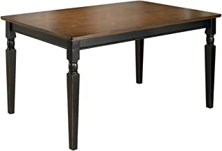 Ashley Furniture Signature Design - Owingsville Rectangular Dining Room Table - Casual Style - Black/Brown