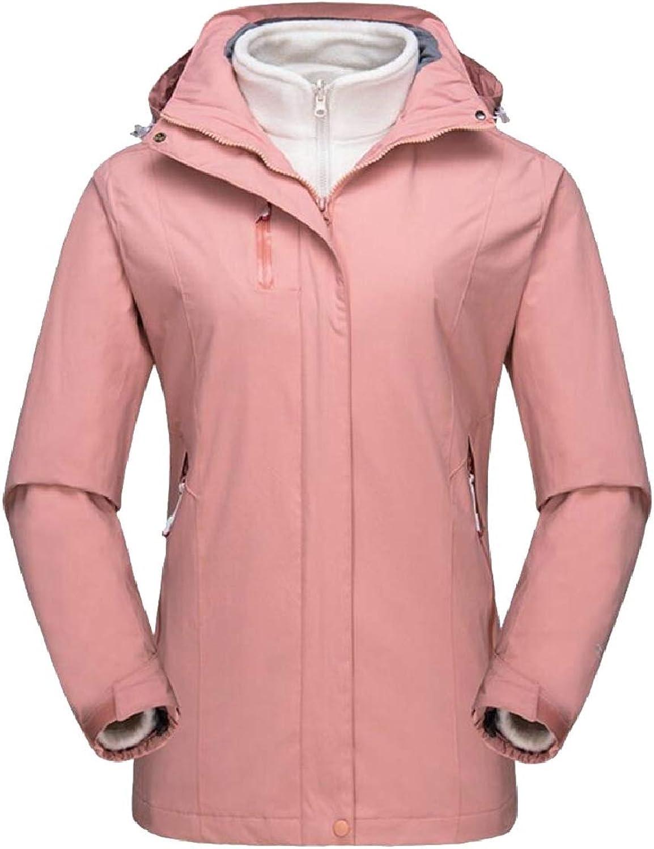 CBTLVSN Women 3in1 Solid Windproof Outerwear Trekking Parka Snow Ski Jacket