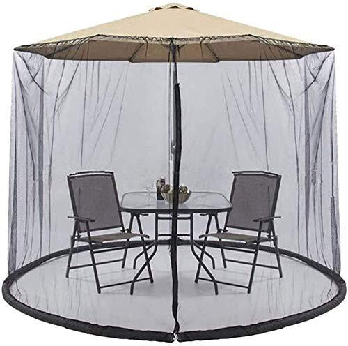 XBR Anti-Mosquito Nets Paraguas su Parasol en un Gazebo Plegable Jardín Mosquito Paraguas Cubierta Parasol de Red para Interior y Exterior, g (Tamaño: 9 pies)