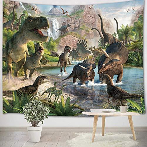 LB 235x180cm Tapiz de Pared Dinosaurio Colgar de Pared Bosqu