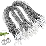 kockuu 200pcs Silver Christmas Ornaments Hanger String Precut...