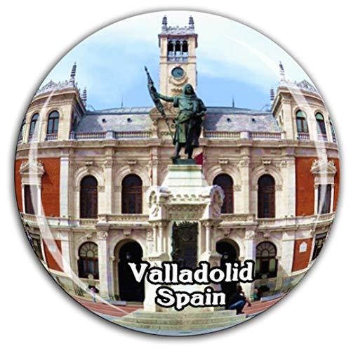 Weekino Valladolid España Imán de Nevera Cristal 3D Cristal Ciudad Turística Viaje Recuerdo Colección Regalo Fuerte Etiqueta Engomada del refrigerador