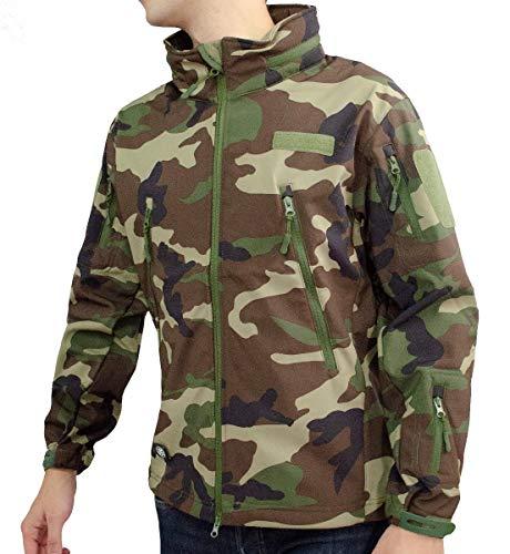 CENTURFIT Chamarra Moderna Chaqueta Hombre Tactica (Verde Militar, XL)