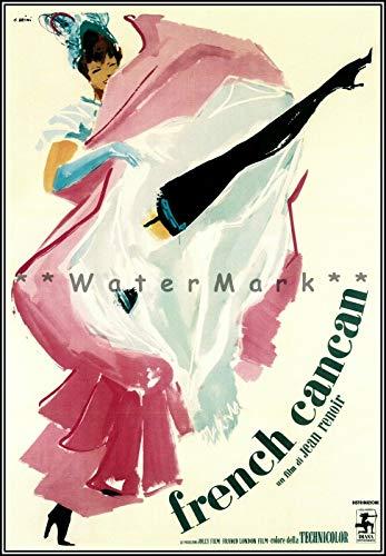 Nostalgic-Art Plaque en étain rétro French Cancan 1955 Style rétro Art Moulin Rouge Dance Plaque vintage Bar Maison Cuisine Cave Café Décoration murale (20 x 30 cm)