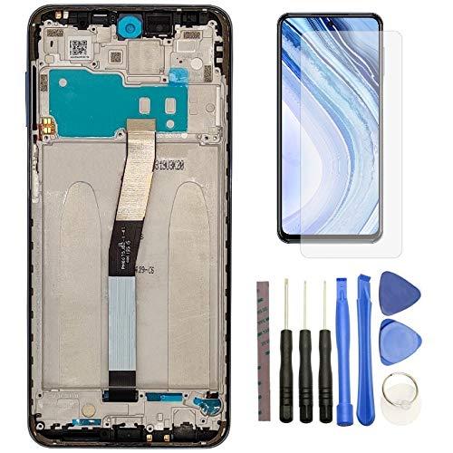 Hypak Pantalla LCD para Xiaomi Redmi Note 9S y Redmi Note 9 Pro (Completa con Marco de Color Gris) Incluye Protector de Pantalla y Herramientas VB