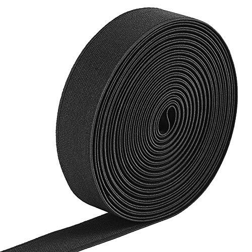 Jalan 6 Meter Gummiband Elastisch Band 25 mm Breit, schwarz