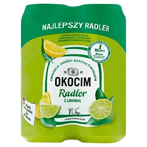 GroßhandelPL Bier Okocim Radler mit Limonade und Limette 6er Pack x 4 Dose (24x 500ml)