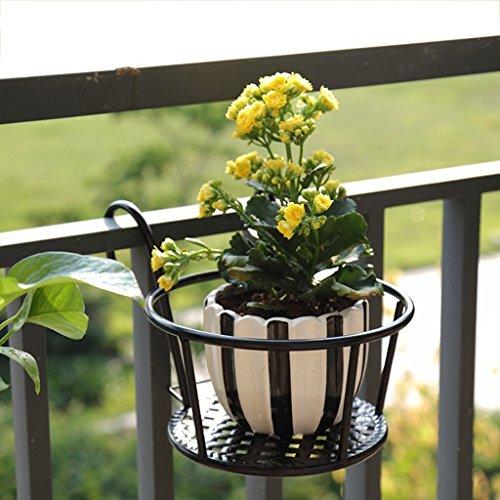 Schmiedeeiserner Zaun-Blumenständer, stilvoll, dick, Blumenständer, Balkon-Zaun, Blumenständer, 27,52218 cm
