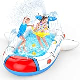 Uarzt Splash Pad 3 in 1 Sprinkler for Kids, 68' Inflatable Splash Swimming Kiddie Pool for Kids Toddlers Dogs, Summer Water Toys for Boys Girls as Gifts, Using in Backyard Outdoor Indoor Outside