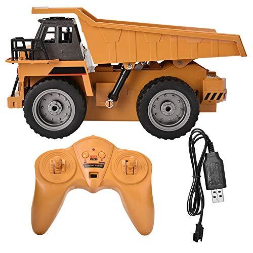 AYNEFY- RC Camión de control remoto para niños, 2,4 G, camión de 6 canales, juguetes de construcción totalmente funcionales para niños