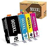 STAROVER Chip de Actualización 903XL Cartuchos de Tinta Compatible para HP 903XL 903 para Impresoras HP Officejet Pro 6950 6960 6970 (1 Negro/1 Cian/1 Magenta/1 Amarillo, Paquete de 4)