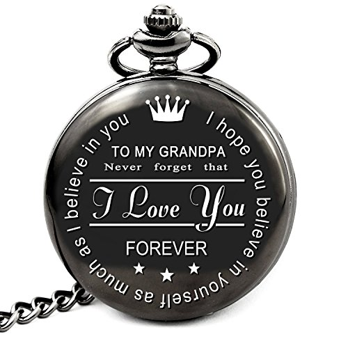 LEVONTA Grandpa Gifts from Granddaughter Grandson for Birthday, for Grandfather, Engraved for Granddaddy (to Grandpa)