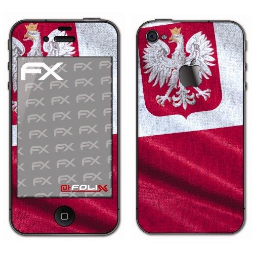 Displayschutz@FoliX atFoliX - Pellicola Protettiva Design Calcio 2012' con Bandiera della Polonia, per Apple iPhone 4 / 4s