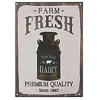 Fresh Dairy Milk Cream Butter Country 金属板ブリキ看板警告サイン注意サイン表示パネル情報サイン金属安全サイン