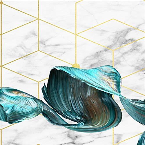 WSNDG Inkt stijl woonkamer slaapkamer nachtkastje Noord gouden abstracte achtergrond muurschildering triple decoratieve schilderij zonder fotolijst 60 * 80CM(No frame) B8